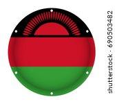 round metallic flag of malawi... | Shutterstock .eps vector #690503482