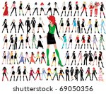 fashion girls | Shutterstock .eps vector #69050356