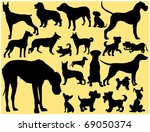 Stock vector dogs 69050374
