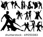 dancing couples | Shutterstock .eps vector #69050383