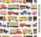 seamless truck pattern | Shutterstock .eps vector #69051253