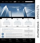 vector web site is black and...   Shutterstock .eps vector #69051271