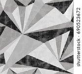 dots geometric | Shutterstock .eps vector #690523672