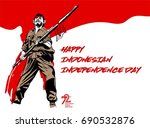 indonesia independence day | Shutterstock .eps vector #690532876