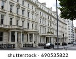 typical row of london... | Shutterstock . vector #690535822