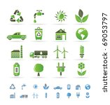 ecology and environment icons   ... | Shutterstock .eps vector #69053797