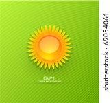 vector sun background | Shutterstock .eps vector #69054061