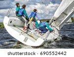 sailing yacht race  regatta.... | Shutterstock . vector #690552442