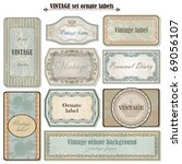 vintage set ornate labels | Shutterstock .eps vector #69056107