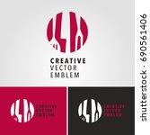 template logo food  for... | Shutterstock .eps vector #690561406