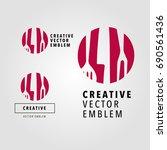 template logo food  for... | Shutterstock .eps vector #690561436