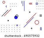 abstract minimal geometric... | Shutterstock .eps vector #690575932