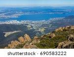 mount wellington  hobart ... | Shutterstock . vector #690583222