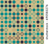 seamless geometric pattern with ...   Shutterstock .eps vector #690583276