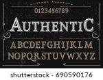 font handwritten vector... | Shutterstock .eps vector #690590176