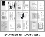 design magazine  cover  vector... | Shutterstock .eps vector #690594058