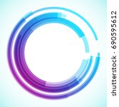 geometric frame from circles ... | Shutterstock .eps vector #690595612