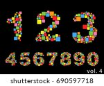 arabic numerals set 1 10.... | Shutterstock .eps vector #690597718