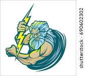 zeus logo vector isolated on... | Shutterstock .eps vector #690602302