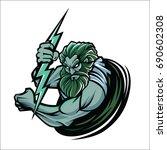 zeus logo vector isolated on...   Shutterstock .eps vector #690602308