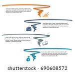 business corporate template... | Shutterstock .eps vector #690608572