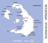 island of santorini in greece... | Shutterstock .eps vector #690630136