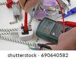 continuity testing   an... | Shutterstock . vector #690640582