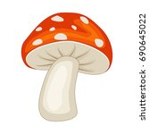 cartoon mushroom isolated on... | Shutterstock .eps vector #690645022