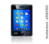 smartphone editable vector file.... | Shutterstock .eps vector #69065503