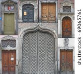 Collage With Old 7 Doors From...