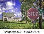 stop sign   house