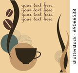 vector illustration of coffee... | Shutterstock .eps vector #69066538