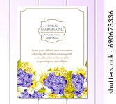 vintage delicate invitation...   Shutterstock . vector #690673336