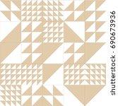 geometric pattern vector.... | Shutterstock .eps vector #690673936