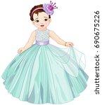 illustration of cute little... | Shutterstock .eps vector #690675226