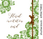 romantic invitation. wedding ... | Shutterstock . vector #690675802