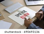 online reviews evaluation time... | Shutterstock . vector #690693136