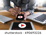 video marketing audio video     ... | Shutterstock . vector #690693226
