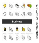 set of isometric icons in... | Shutterstock .eps vector #690694675