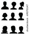anonymous mugshots | Shutterstock .eps vector #69070147