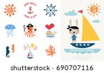 pirate party invitation. vector ...   Shutterstock .eps vector #690707116