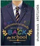 vector illustration of a school ...   Shutterstock .eps vector #690711406