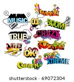 3d words vector illustration | Shutterstock .eps vector #69072304