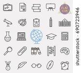 education line icon set | Shutterstock .eps vector #690723946