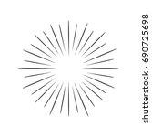 hand drawn vintage sunburst | Shutterstock .eps vector #690725698