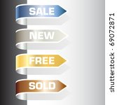 set of labels   sale  new  free ... | Shutterstock .eps vector #69072871