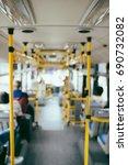 public transportation. blur...   Shutterstock . vector #690732082