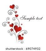 vector valentine s day card | Shutterstock .eps vector #69074932