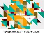 triangle pattern design... | Shutterstock . vector #690750226
