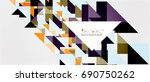 triangle pattern design... | Shutterstock . vector #690750262